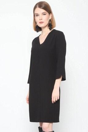 Journey Elbise- V Yaka Turvakar Kol, Kol Yırtmaç Detaylı 4