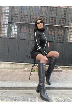 Siyah Triko Elbise TRİKO