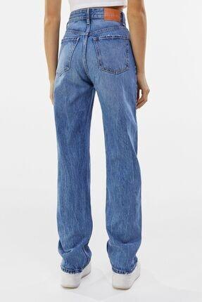 Bershka Straight Fit Yüksek Bel Jean 2