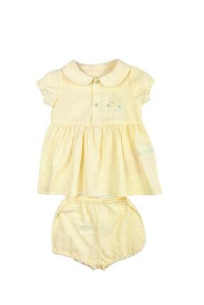 Picture of 2'li Kız Bebek Elbise Sarı Puantiyeli