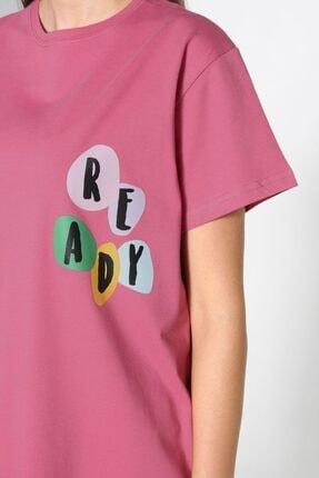 ALLDAY Gül Kurusu Baskılı Kısa Kol T-shirt 2