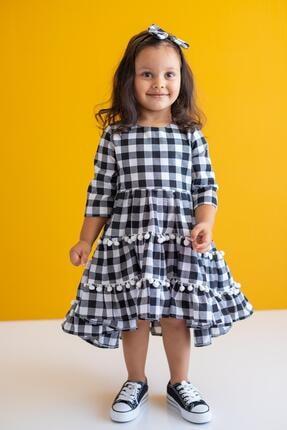 Picture of Beyaz Kız Çocuk Elbise Carmen Damier