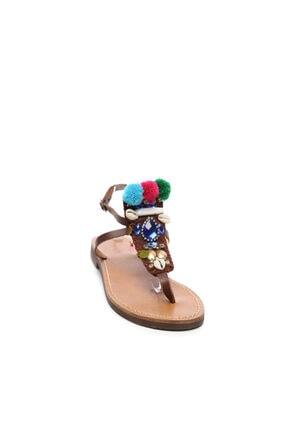 Kemal Tanca Kadın Derı Sandalet Sandalet 607 3075 Byn Snd 1