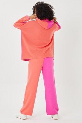 Mio Secret Kadın Kapşonlu Oversize Triko Takım 4