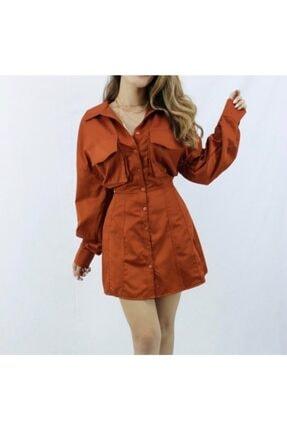 Tarçın Rengi Elbise 64663545