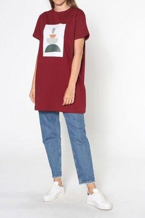 ALLDAY Bordo Baskılı Kısa Kol T-shirt 3