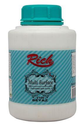 Rich Multi Surface Her Yüzey Için Akrilik Boya 1750 gr. 2100 Beyaz 0