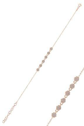 Söğütlü Silver Gümüş Rose Zirkon Taşlı Çiçek Bileklik 0