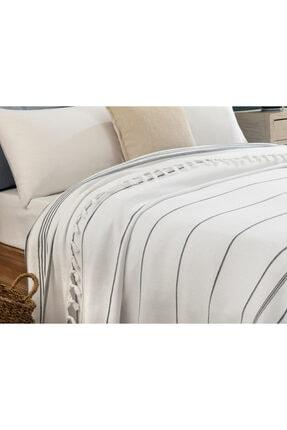 Madame Coco Alegron King Size Yıkamalı Yatak Örtüsü - Beyaz / Indigo 1