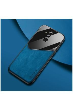 Dara Aksesuar Huawei Mate 20 Lite Kılıf Zebana New Fashion Deri Kılıf Mavi 0