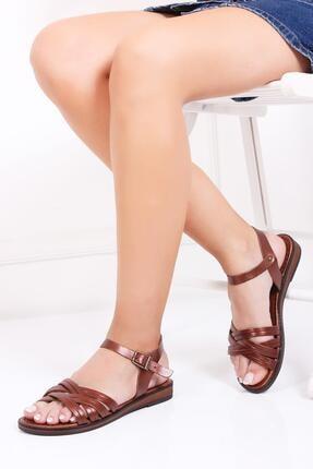Deripabuc Hakiki Deri Twinkle-3 Kadın Deri Sandalet Dp-0013 0