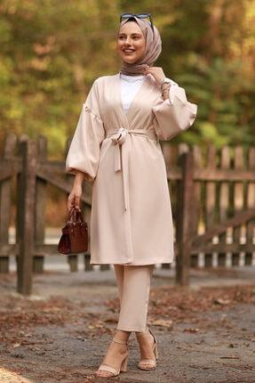 Moda Sahra Balon Kol Kuşaklı Tesettür Takım 0