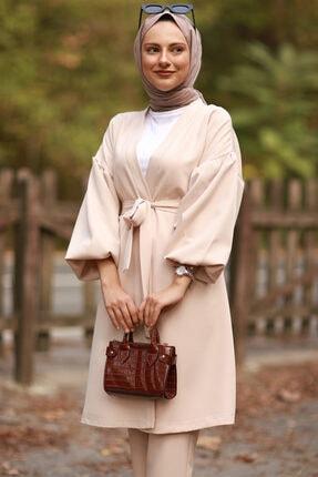 Moda Sahra Balon Kol Kuşaklı Tesettür Takım 1