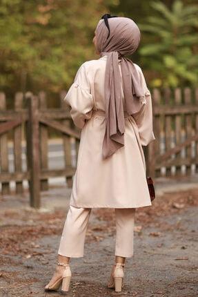 Moda Sahra Balon Kol Kuşaklı Tesettür Takım 3
