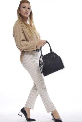 Fume London Şal Aksesuarlı Kadın Askılı Kol Ve Omuz Çantası Fb3052 2