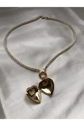 Treasure&Co Kalp Kapaklı Inci Kolye 0