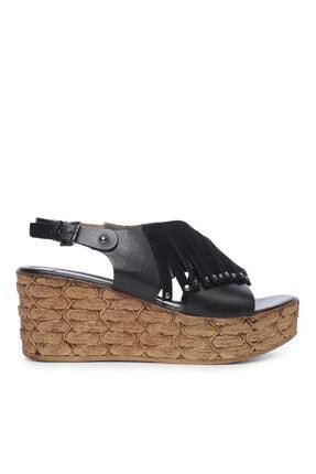 Kemal Tanca Kadın Derı Sandalet Sandalet 169 6702 Bn Sndlt 0