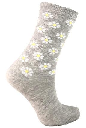 Şirin Pamuklu Desenli Kokulu 6 Çift Bayan Soket Çorabı 4