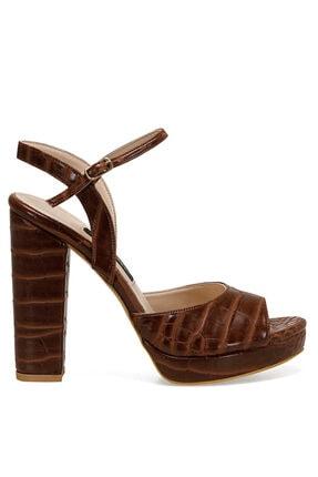 Nine West CENDO Kahverengi Kadın Topuklu Sandalet 100526405 0