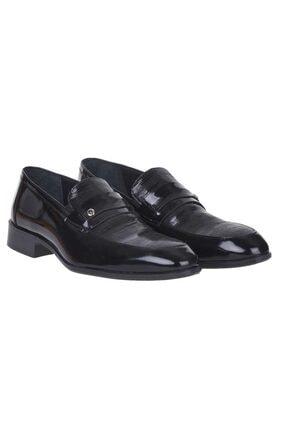 Pierre Cardin 00pc16 Siyah %100 Deri Erkek Rugan Klasik Ayakkabı 0