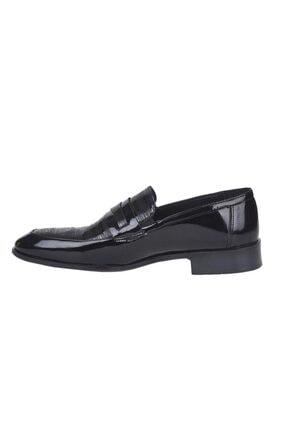 Pierre Cardin 00pc16 Siyah %100 Deri Erkek Rugan Klasik Ayakkabı 2