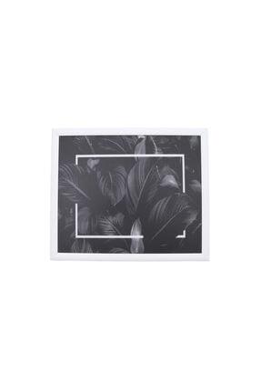 Yedi Home&Decor Keyif Tepsisi_black Leaves (Bilgisayar Ve Kahvaltı Tepsisi) Çok Amaçlı Kullanım 1
