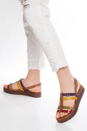 Deripabuc - Çeşme Hakiki Deri Multi-1 Kadın Deri Sandalet Rma-3111 0