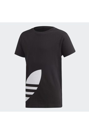 adidas Unisex  Çocuk Siyah Fm5641 Bıg Trefoıl Tee  Spor T-Shirt 0