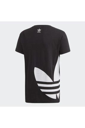 adidas Unisex  Çocuk Siyah Fm5641 Bıg Trefoıl Tee  Spor T-Shirt 1