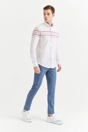 Avva Erkek Açık Mavi Yandan Cepli Basic Slim Fit Pantolon A01y3042 3