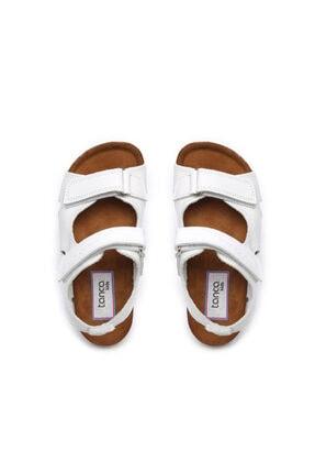 Kemal Tanca Unisex Çocuk Beyaz Derı Sandalet 719 300 Cck 22-30 Y19 3