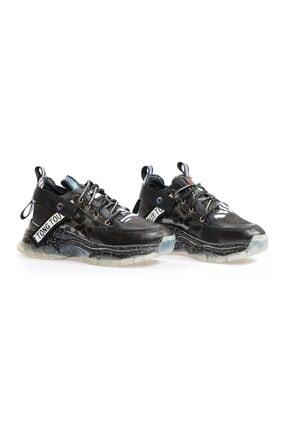 Flower Siyah Şeffaf Tabanlı Sneaker 1