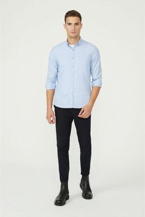 Avva Erkek Mavi Oxford Düğmeli Yaka Slim Fit Gömlek E002000 3