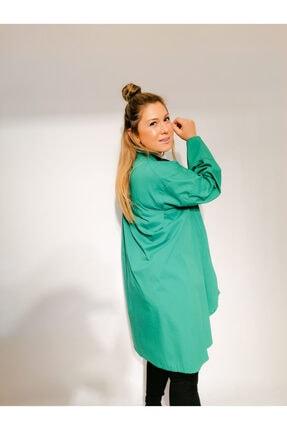 Serpirella Butik Yeşil Tunik Gömlek 2