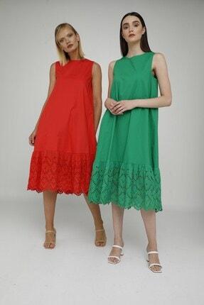 Cream Rouge 20-1272 Elbise Sıfır Kol Eteği Fistolu 1
