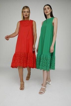 Cream Rouge 20-1272 Elbise Sıfır Kol Eteği Fistolu 2