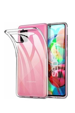 sepetzy Samsung Galaxy A71 Şeffaf Kılıf Clear Silikon Kapak 0