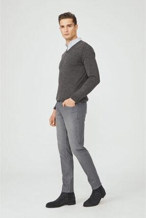 Avva Erkek Gri Slim Fit Jean Pantolon E003504 2