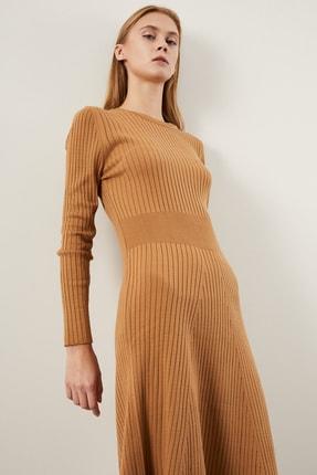 Tena Moda Kadın Bisküvi Fitilli Çan Uzun Elbise 1