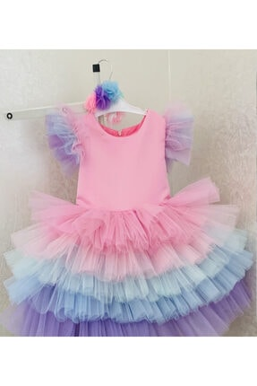 ELLUSSİ Unicorn Lux Model-renkli Elbise 0