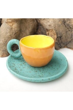 Topraktan Sanata Seramik El Yapımı Kahve Fincanı 2