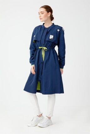 Ghisa Armalı Trenchcoat Indigo 3