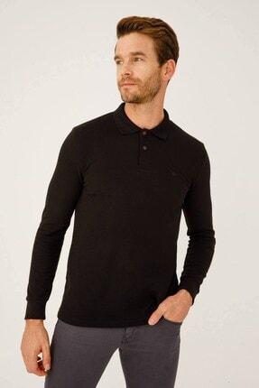 İgs Erkek Siyah Standart Polo Yaka Sweatshirt 0