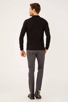 İgs Erkek Siyah Standart Polo Yaka Sweatshirt 2
