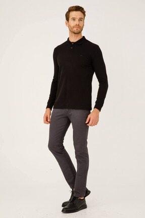 İgs Erkek Siyah Standart Polo Yaka Sweatshirt 3