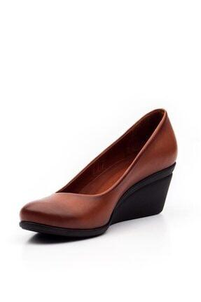 Deripabuc Hakiki Deri Taba Kadın Dolgu Topuklu Deri Ayakkabı Trc-0274 2