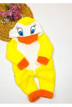 Bebesev Baby Bebesev Peluşlu Welsoft Ördek Tulum - Sarı 0