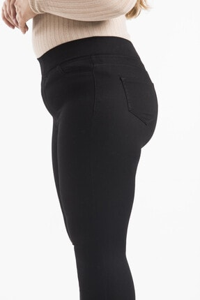 Shaza Esnek Saten Kumaş Beli Lastikli Skınny Pantolon 3