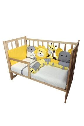 Rimini Baby Smartcrib Doğal Katlanır Beşik+ilk Arkadaşlarım Eğitici Uyku Seti Sarı-gri 2
