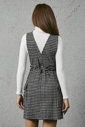 Sateen Jile Tüvit Elbise - Siyah 3
